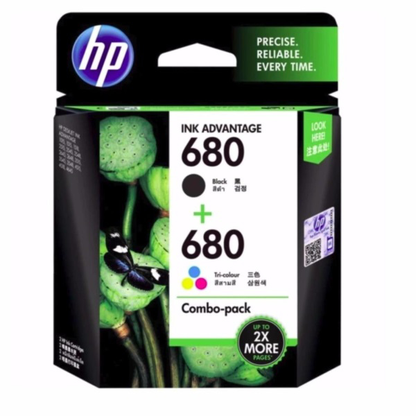 Picture of HP NO:680 BLACK & TRI-COLOR COMBO INK CARTRIDGE X4E78AA