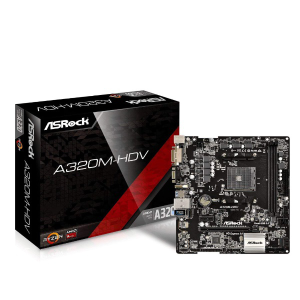 Picture of ASROCK A320M-HDV R4.0 AMD A320 AM4