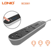 Picture of LDNIO SC3301 3 POWER EXTENSION SOCKET 3 USB CHARGER 5V 3.1A