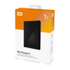 Picture of WD MY PASSPORT 1TB USB3.0 PORTABLE HARD DRIVE BLACK WDBYVG0010BBK