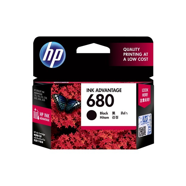 Picture of HP NO:680 BLACK INK CARTRIDGE F6V27AA